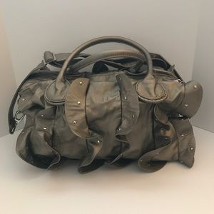 EUC- Steve Madden metallic grayish/gold bag